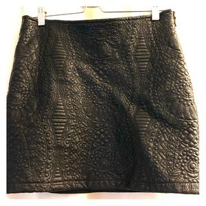 Bebe faux leather skirt